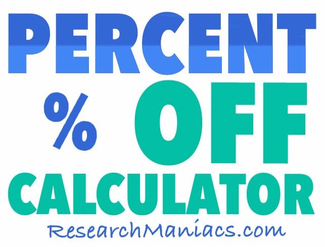 Percent Off Calculator | CALCULATOR | Pinterest | Calculator and ...