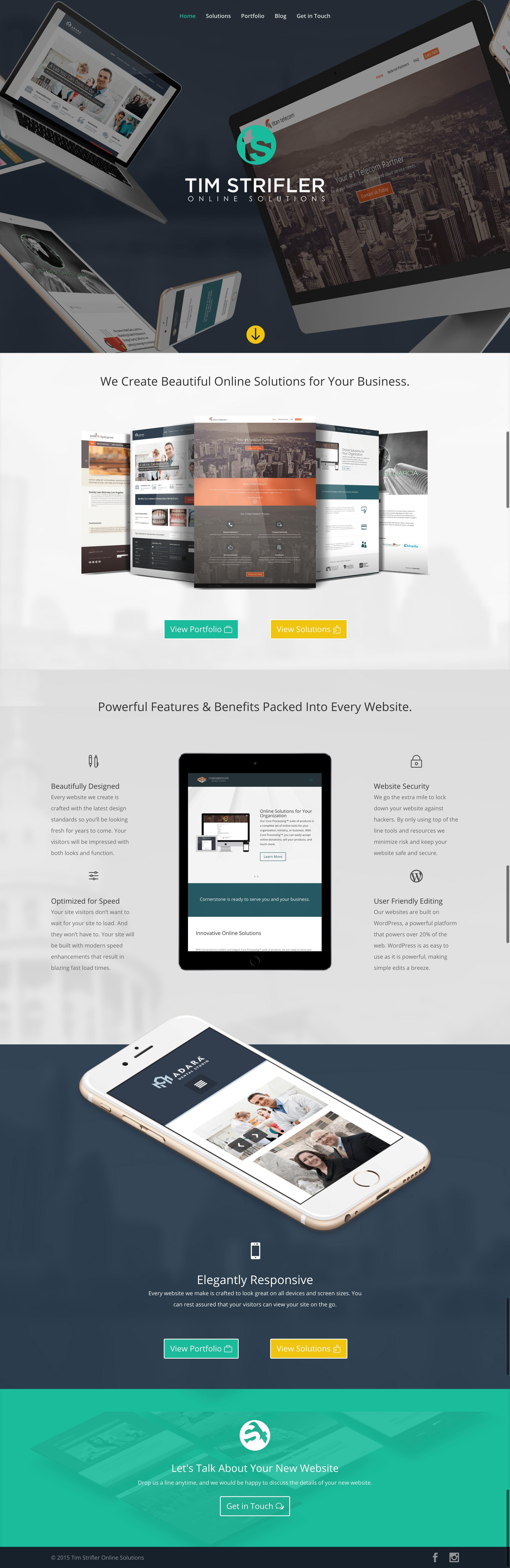 Tim Strifler Website Design Design Development Divi Wordpress Themes