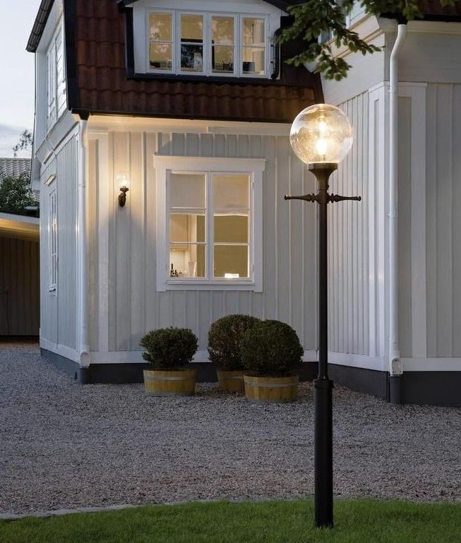 Globe Lantern Lamp Post White Or Black Outdoor Lamp Post