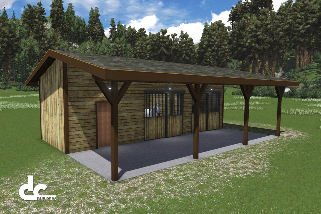 36 ft Shed Row Horse Barn Floor Plans DC Building HouseShopBarn