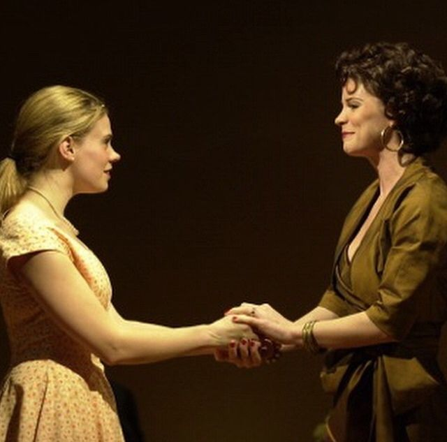 Celia Keenan Bolger (Clara) and Kelli O'Hara (Franca) in a prebroadway tryout performance of The Light in the Piazza