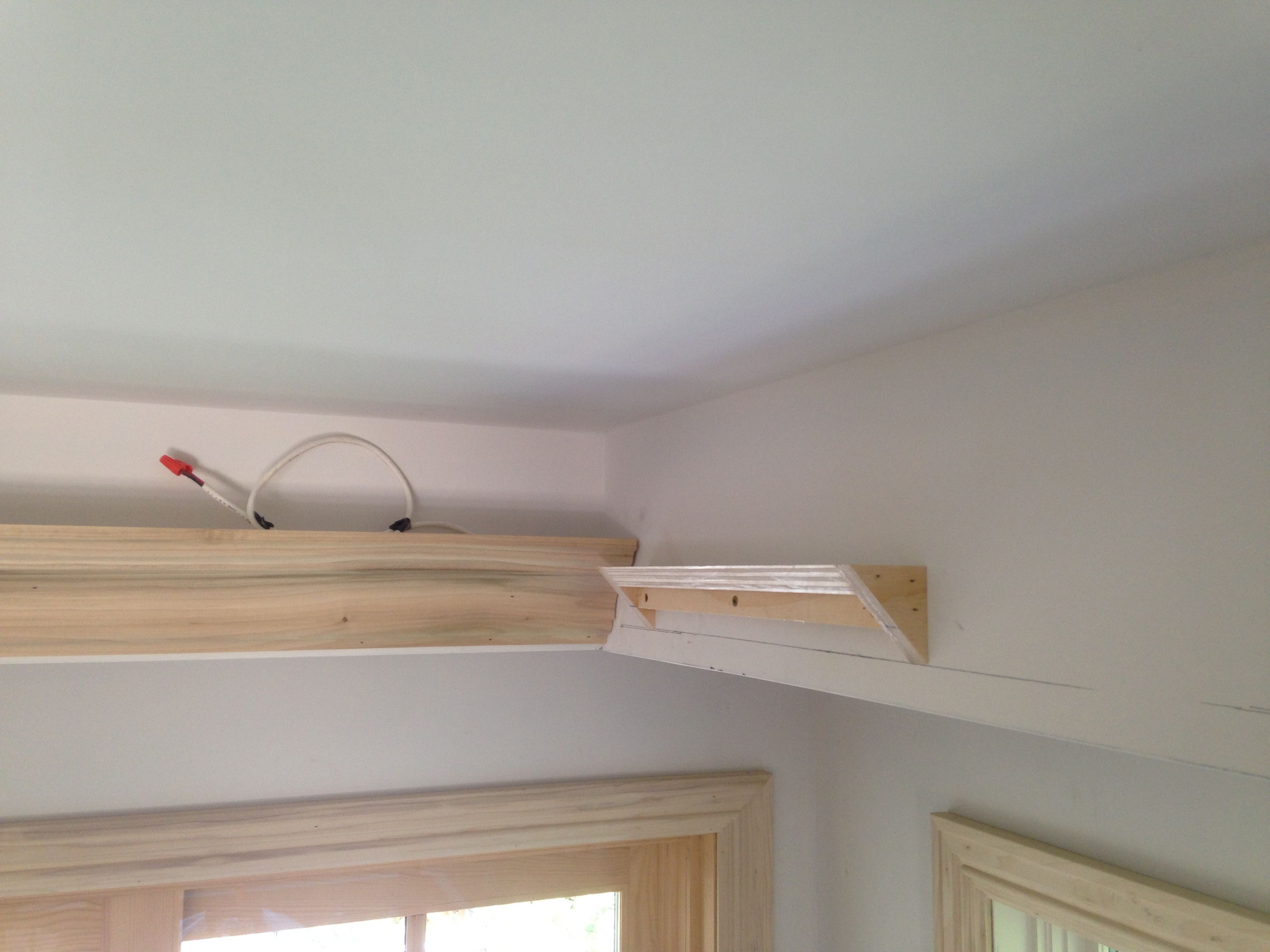 Installing crown molding light valance | DIY HOUSE FIX-ITS ...
