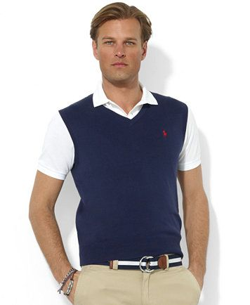 Polo Ralph Lauren Mens Sweater Vest Core Solid Sweater Vest