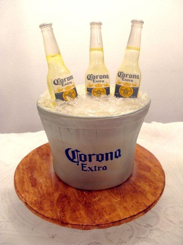 Beer Bucket Cake Birthday Cakes Beer Bucket Beer Bucket Cake Beer Bottle Cake