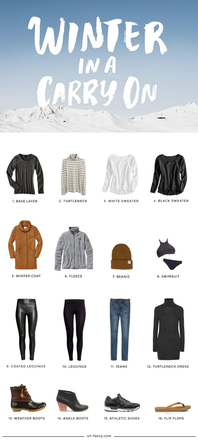 Winter Packing What To Bring Come Fly Away In 2018 Pinterest