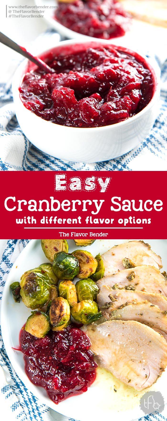 Versatile and Easy Cranberry Sauce - The Flavor Bender #cranberrysauce