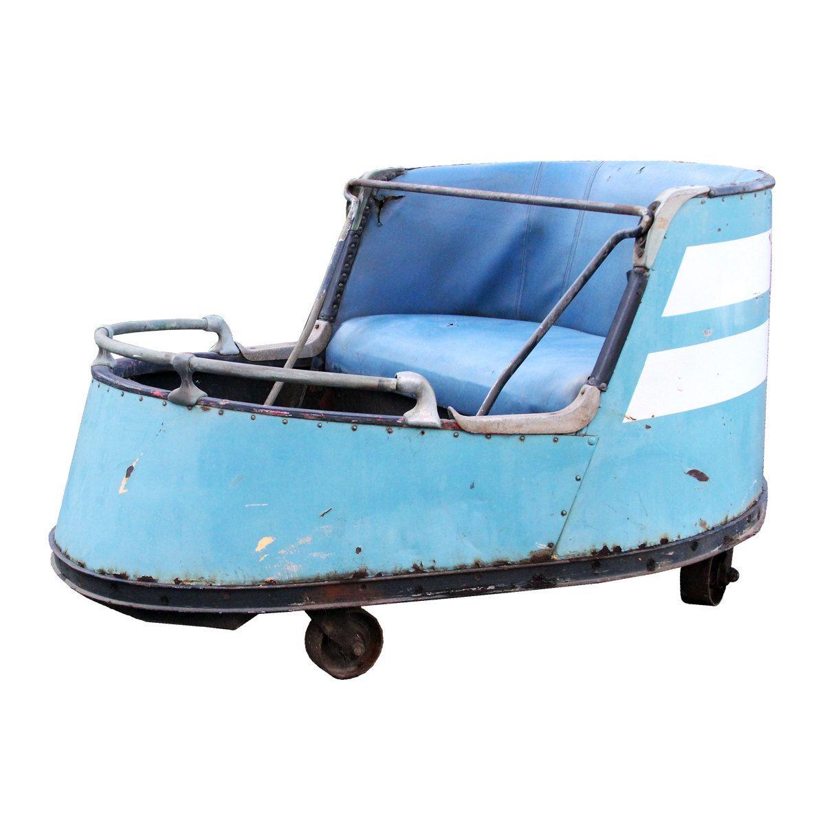 "Vintage 1940s Coney Island Amusement Park Ride Car ""THE"