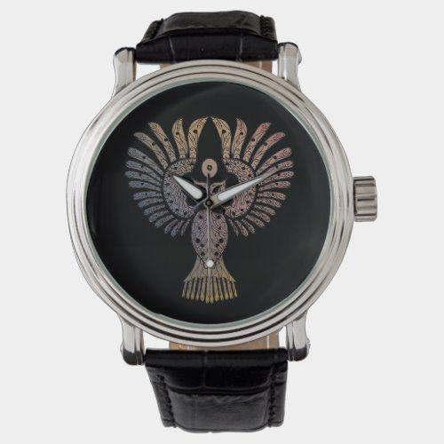 Colorful Nightowl Tattoo Watch | Zazzle.com