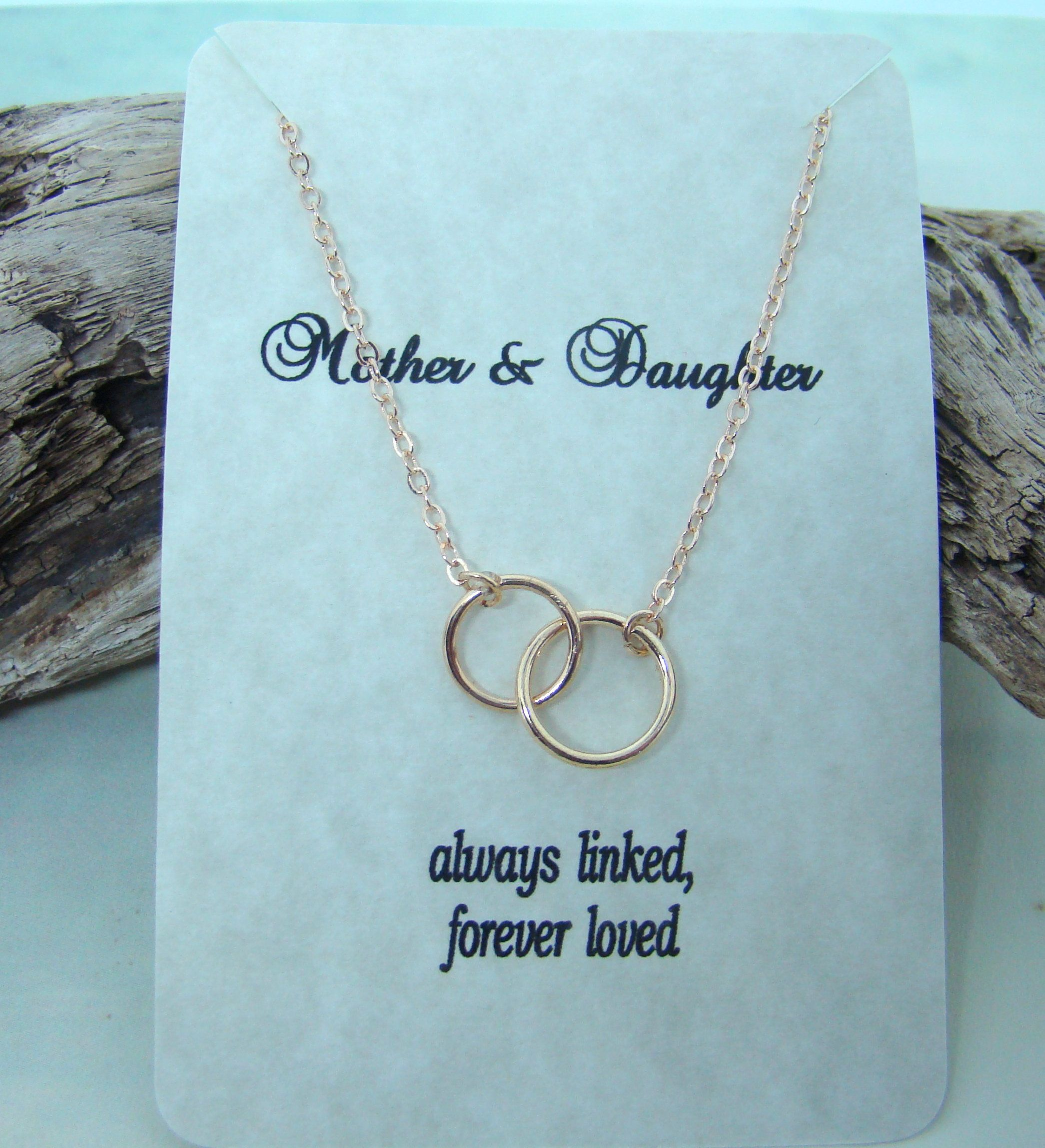 Mother and Daughter, always linked, forever loved, dainty