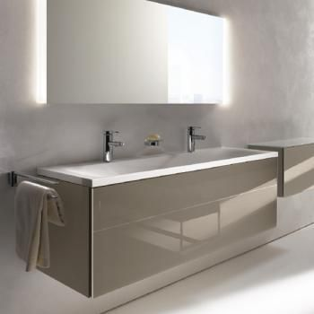 Keuco Royal Reflex Mineralguss Doppelwaschtisch Mit 2 Hahnlochern Ohne Uberlauf 34082311302 Badezimmer Waschtischunterbauten Modernes Badezimmer