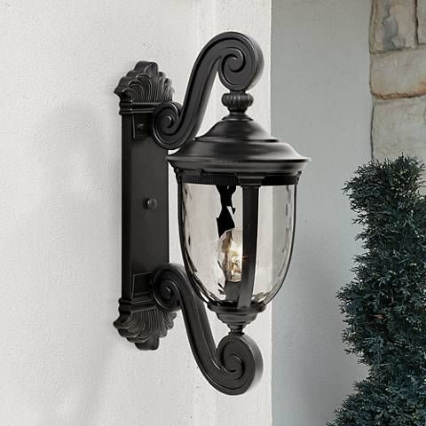 """Bellagio™ Collection 24"""" High Black Outdoor Wall Light"""