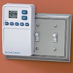 This Is Neat Automatic Wall Switch Timer 34 99 Www Improvementscatalog Com Fits Right Over A Switch Lights Timer Fan Light Switch Timer