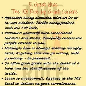 Summary: The 10X Rule by Grant Cardone (grow your business fast ...
