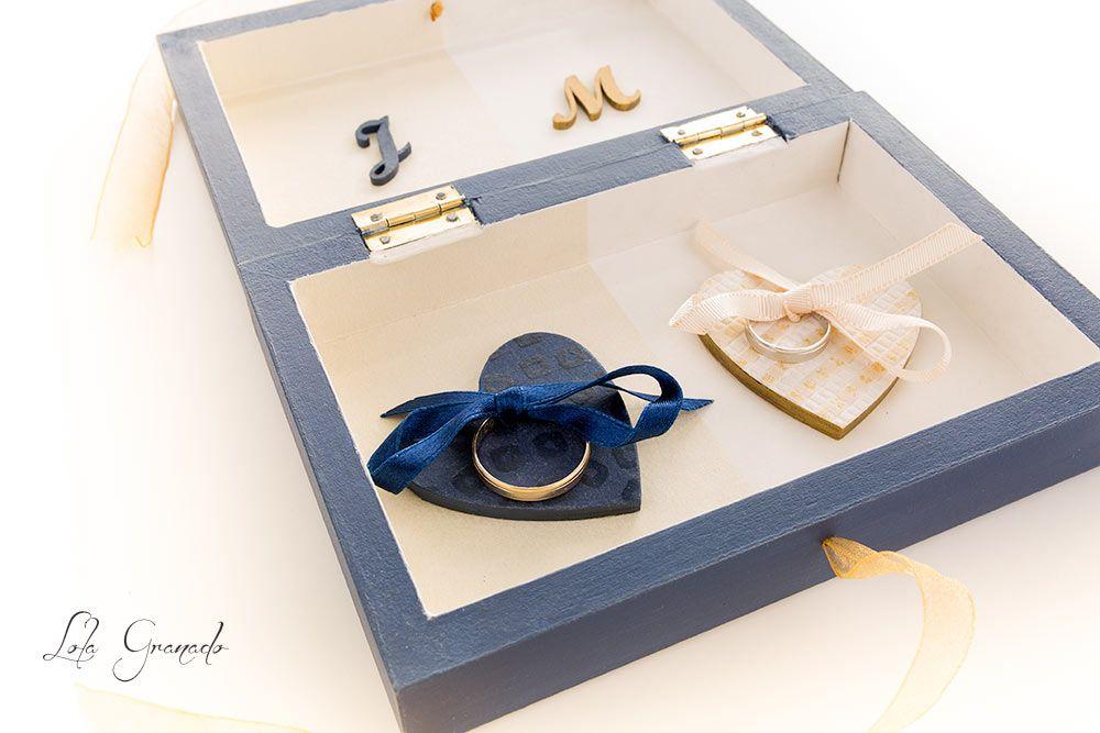 Porta Anillo de Caja Personalizada. caja de portador de anillo Lase ANILLO DE BODA Holder BODA