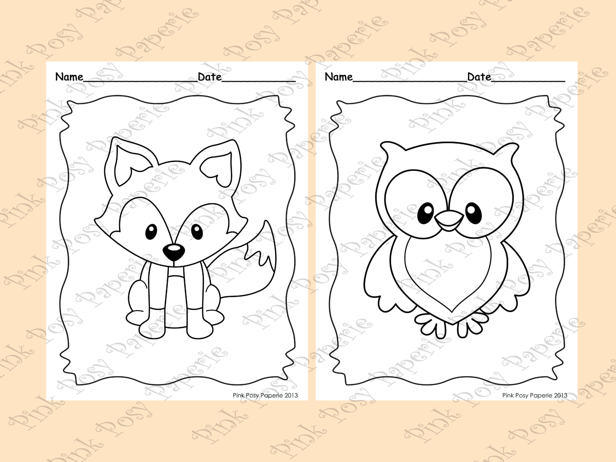 Woodland Forest Animals Coloring Pages 8 Designs Fox Included Animal Coloring Pages Coloring Pages Woodland Animals