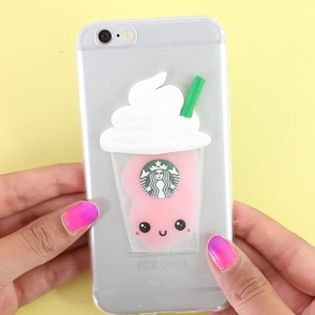 Starbucks liquid phone case the complete tutorial is up on for Homemade iphone case