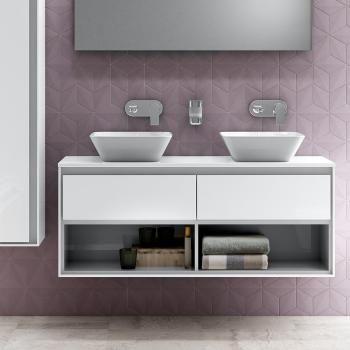 Ideal Standard Connect Air Der Doppelwaschtisch-Unterschrank - badezimmer unterschrank weiss