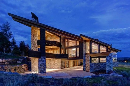 Modern mountain residence with stunning views digsdigs for Mountain modern house plans