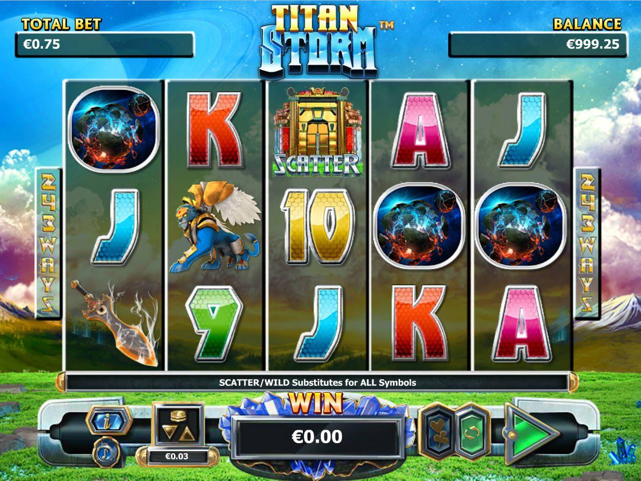 Spielen kostenlos online Spielautomat Titan Storm http