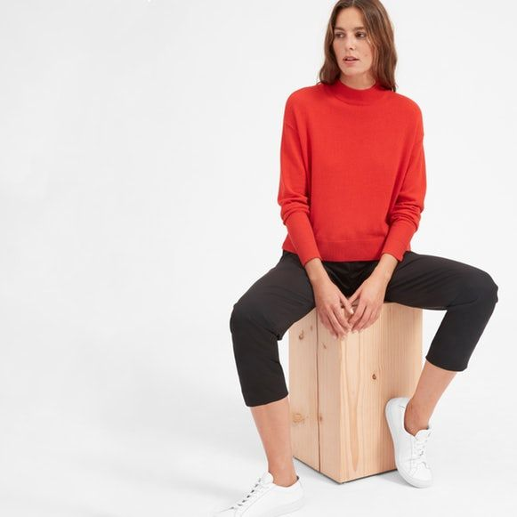 The Cashmere Crop Mockneck Everlane This Grade A cashmere
