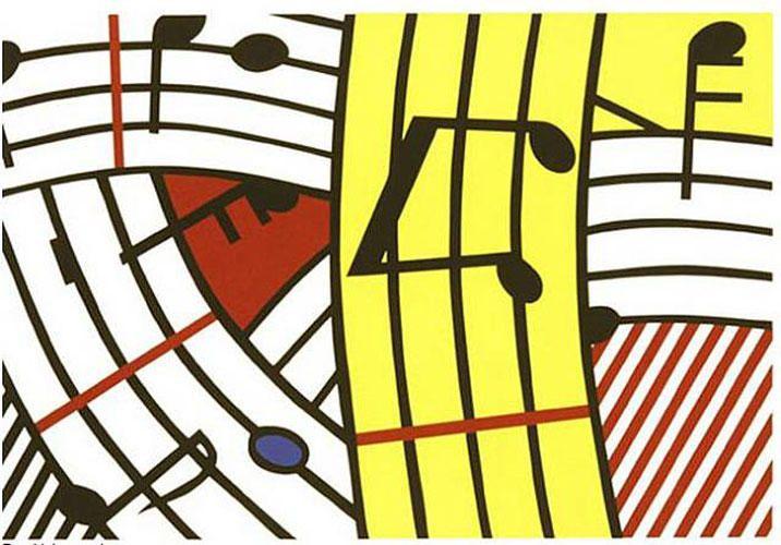 """Roy Lichtenstein """"Composition IV""""1995"""