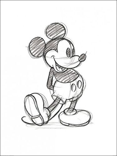 mickey mouse sketched by disney art print from king mcgaw