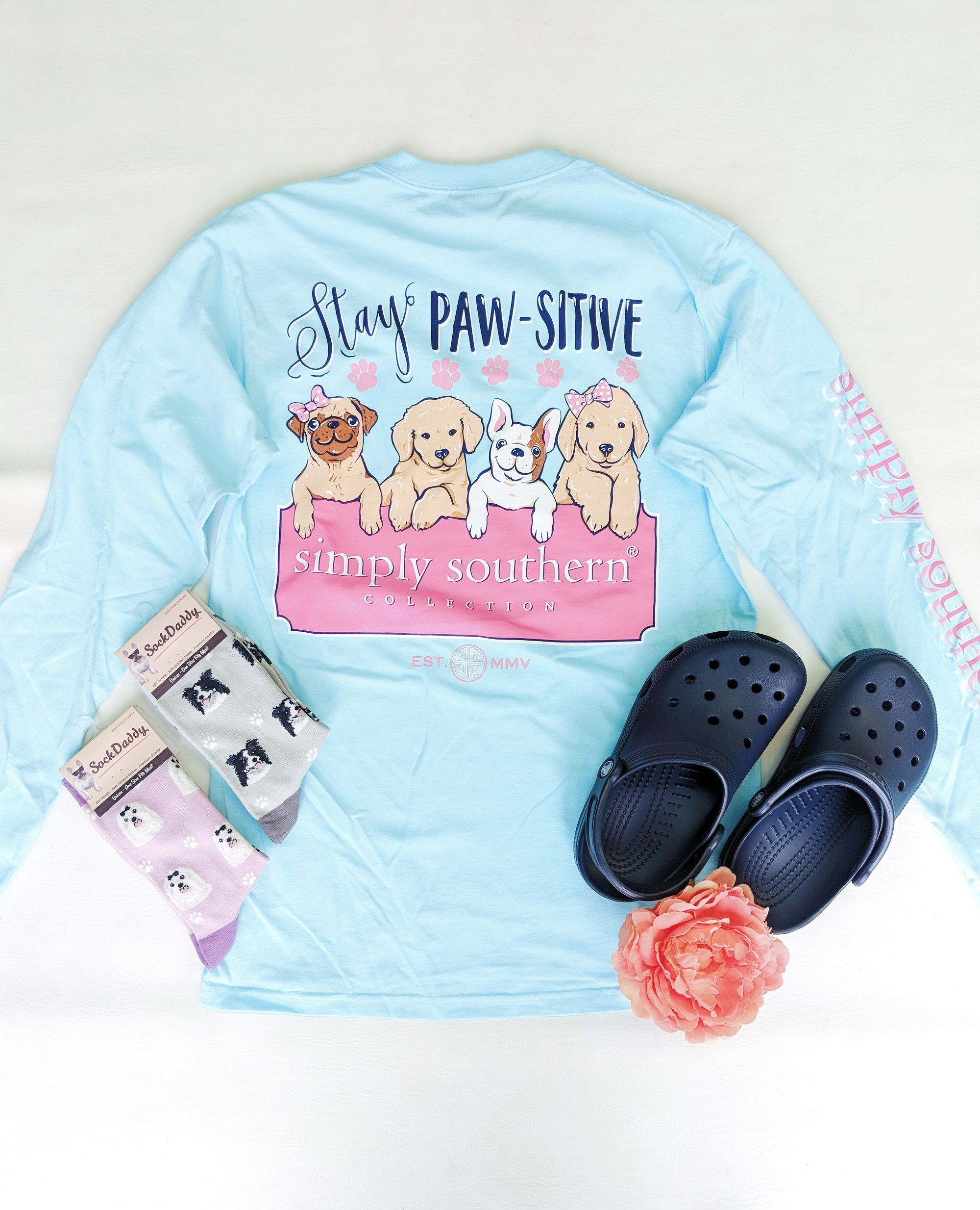 Simply Southern Pawsitive Tee In 2020 Simply Southern Shirts