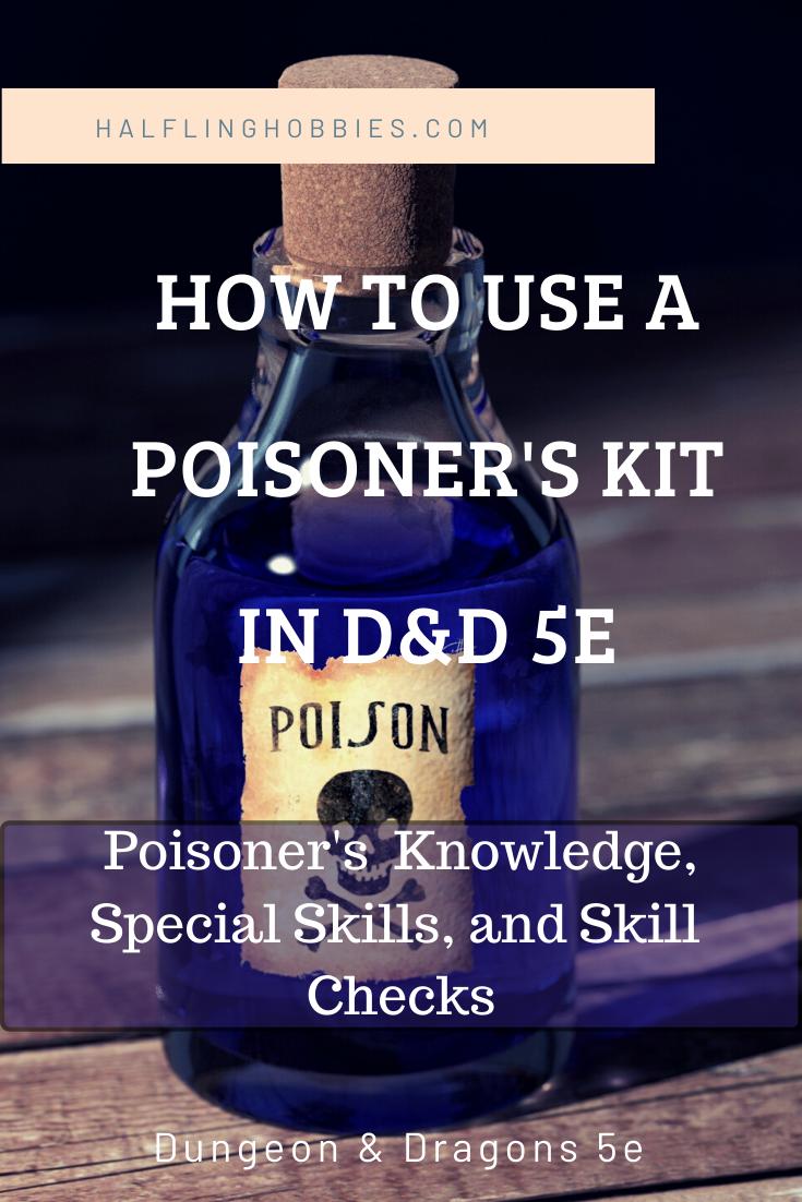 Poisoner S Kit D D 5e Dungeons And Dragons Dungeon Master Dungeons And Dragons 5e