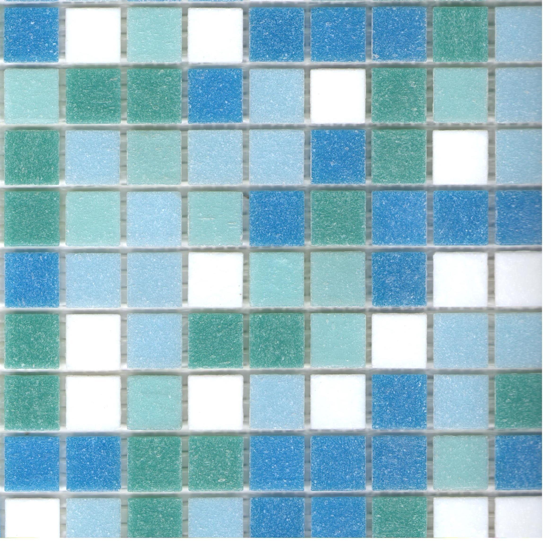 - Brio Fresh Blend Glass Mosaic Tile 3/4