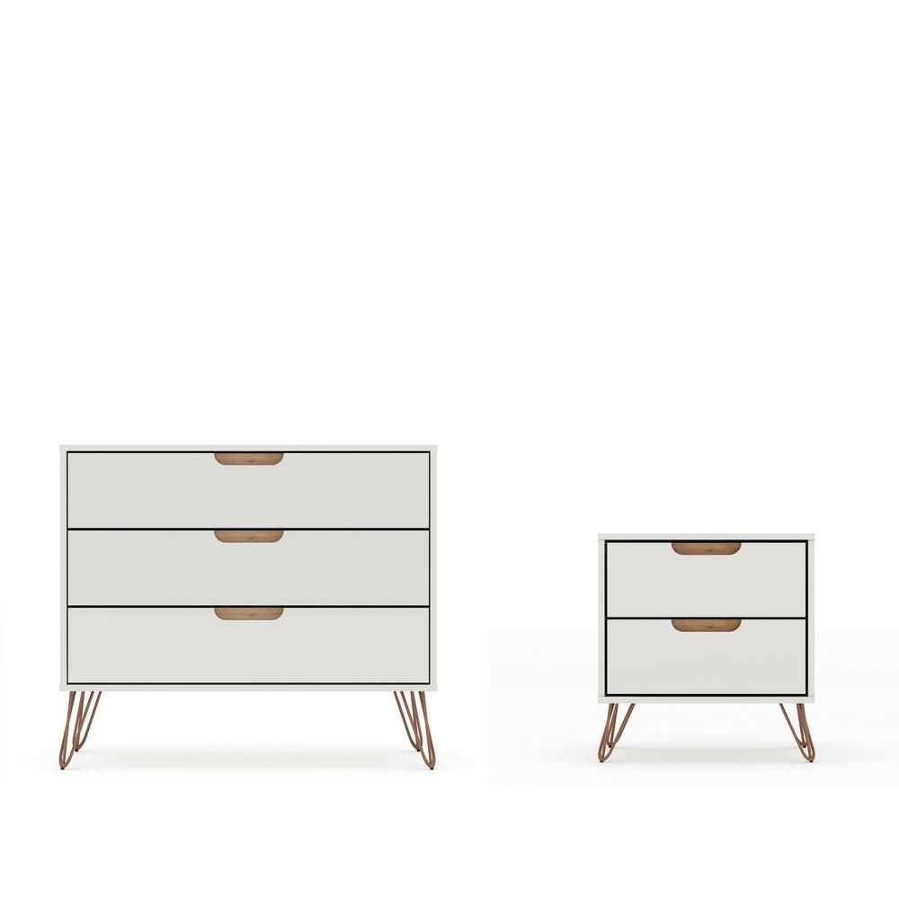 Modern White Dresser And Nightstand