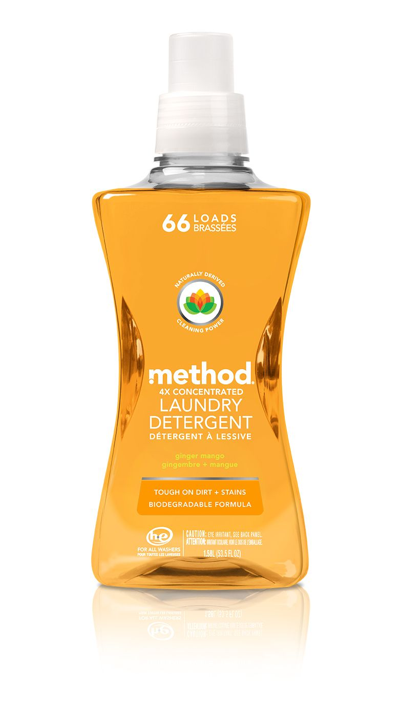 Method 4x Concentrated Laundry Detergent Ginger Mango