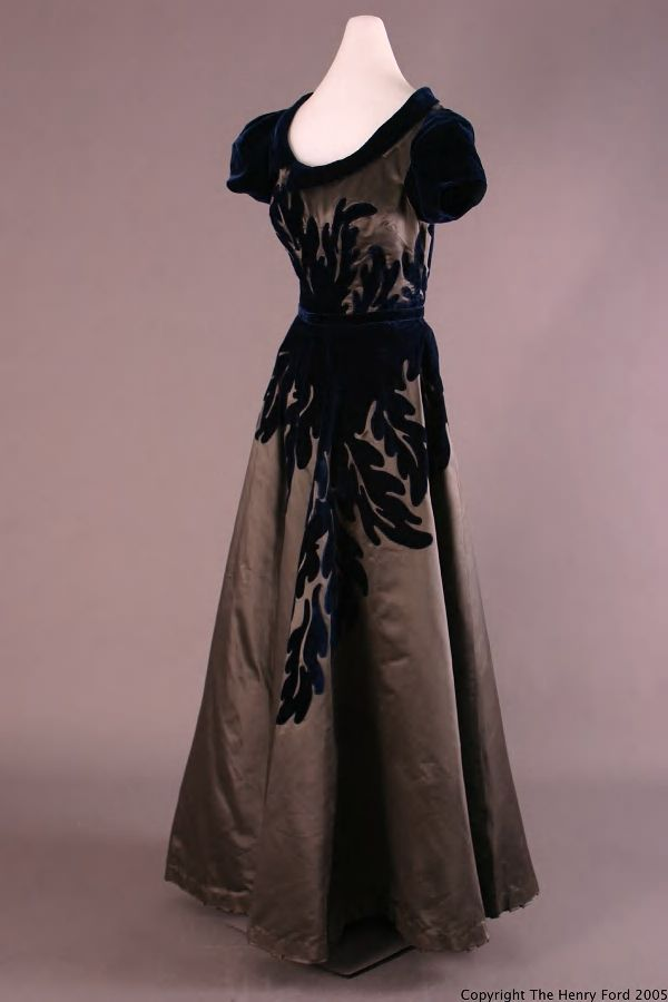 Evening Dress, 1947. Designer: Gimbel, Sophie. Other Maker: Salon ...