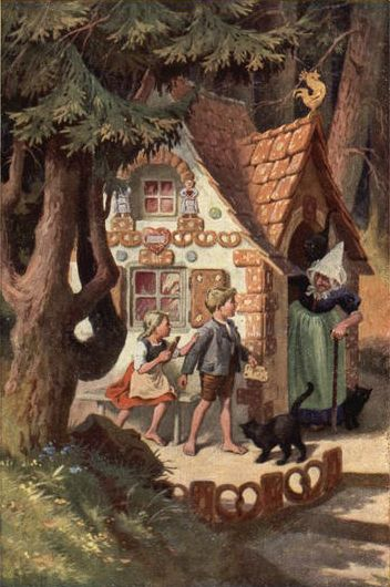Hansel And Gretel Outside The Witch S House Fairytale Art Fairytale Illustration Art