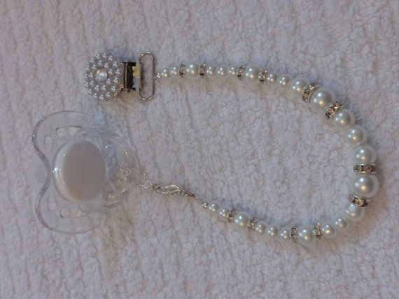 pearl pacifier holder | Pearl pacifier holder