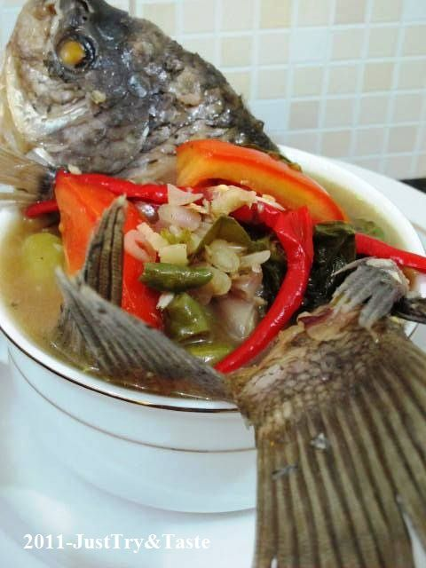 Resep Sup Ikan Gurame Dan Sawi Asin Sup Ikan Makanan Ikan Makanan