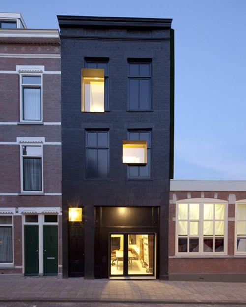 Schwarze Fassade schwarze perle deco rotterdam modern architecture