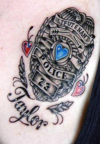 Love This Idea Need To Get A Copy Of His Badge Memorial Tattoo Tattoo Designs Police Tattoo Tattoos