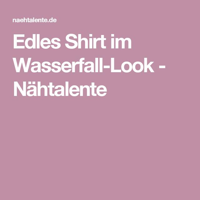 Edles Shirt im Wasserfall-Look | Shirts