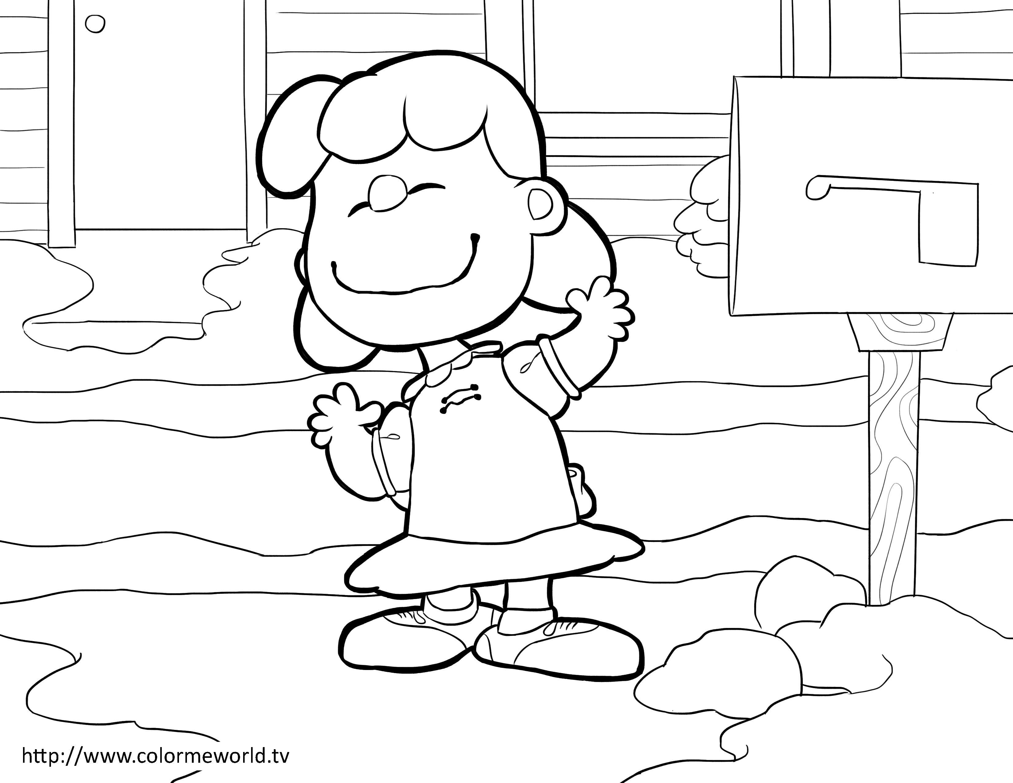 Coloring pages van - Lucy Van Pelt Pdf Printable Coloring Page Peanuts