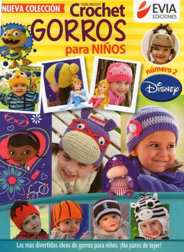 Gorros Disney en crochet para niños | Gorros, Disney y Orejas de gato