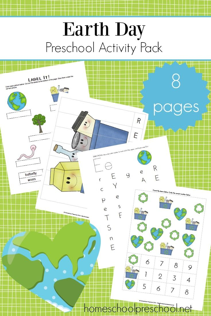 Free Printable Earth Day Preschool Pack | Homeschool, Activities and ...