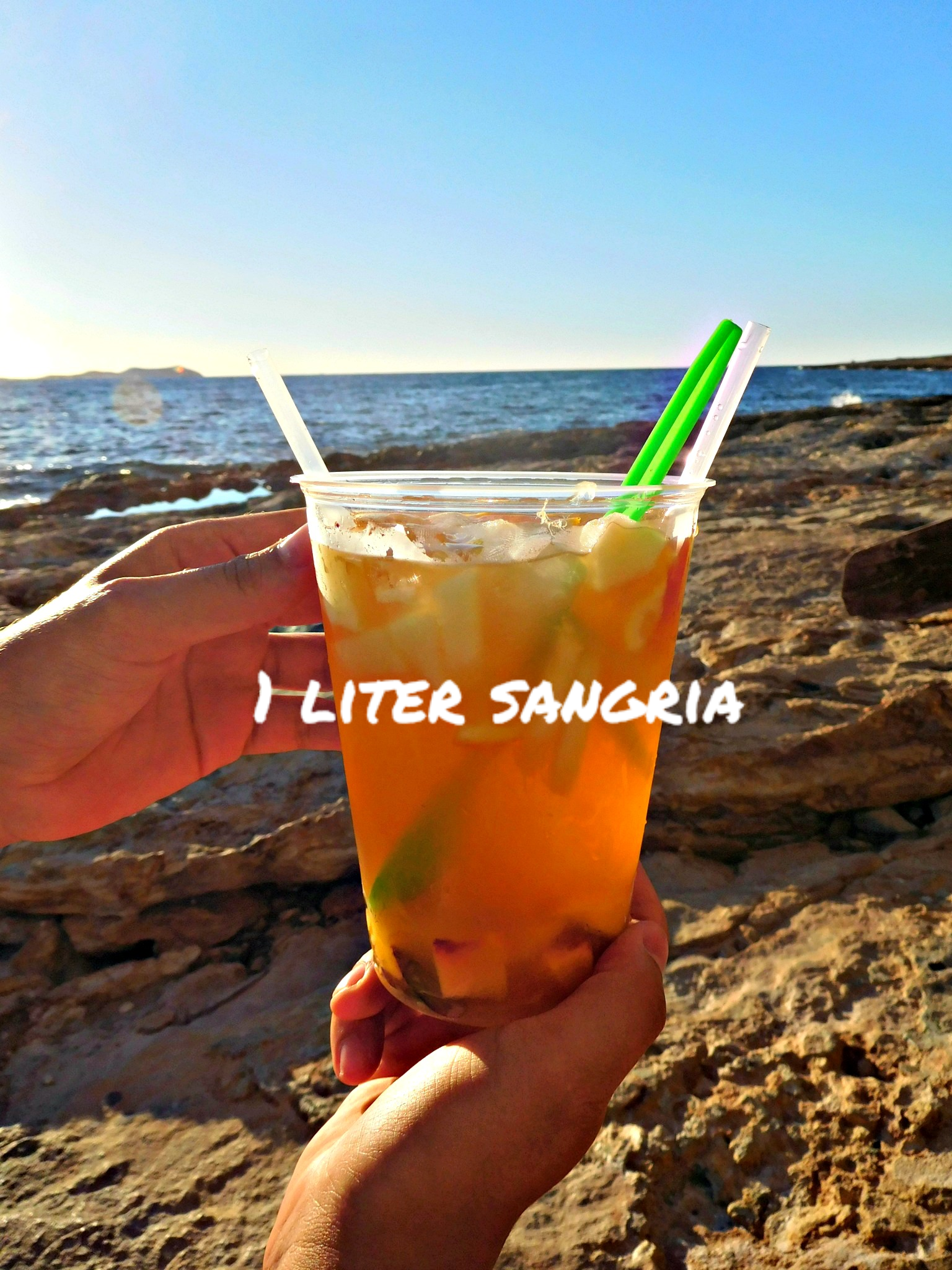 1 liter Sangrìa for an amazing sunset at Cafè del Mar, Sant Antony de Portmany (Ibiza, Baleares, Spain)