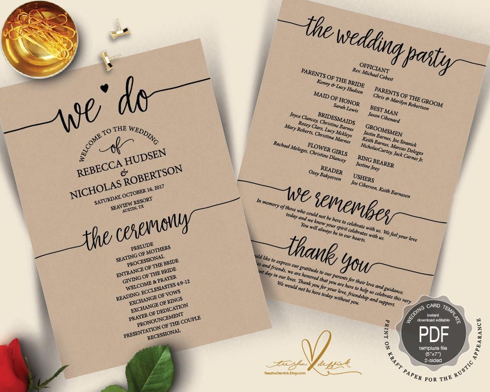This Item Is Unavailable Etsy In 2020 Wedding Programs Card Template Wedding Programs Template