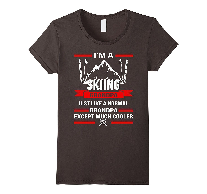 i'm a skiing grandpa t-shirt