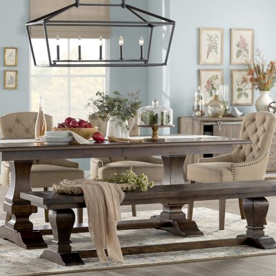 Heritage Giomar Beige Area Rug Dining Table Extendable Dining