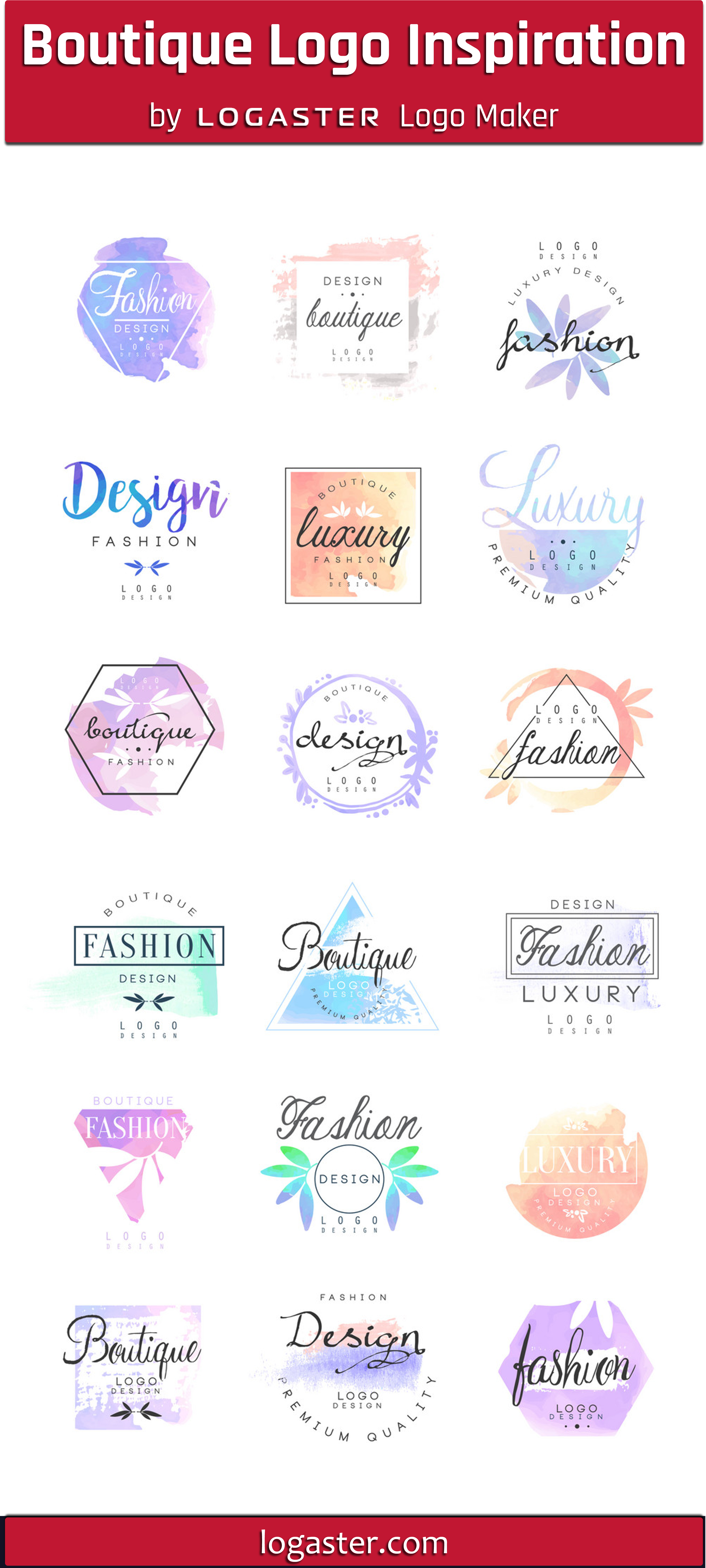 Logaster Logo Maker presents Boutique Logo Design Ideas