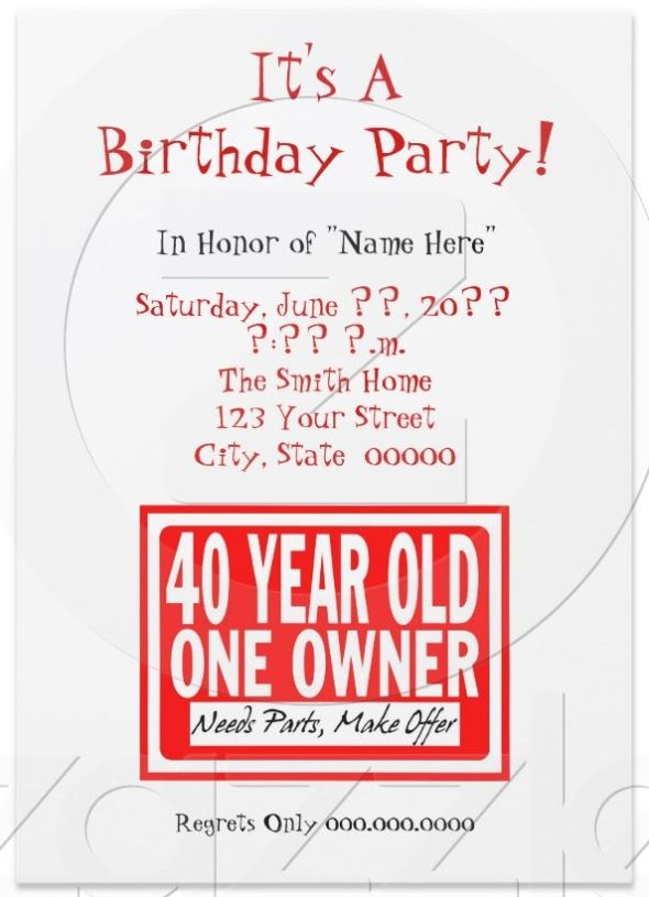 Cool Funny Birthday Invites Wording and Templates FREE Printable