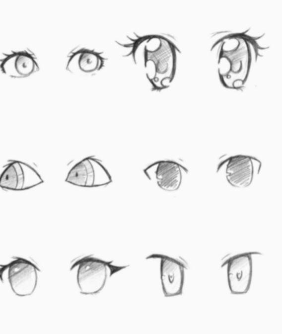 18 Drawing Eyes Tutorial Anime Anime Eye Drawing Easy Eye Drawing Chibi Drawings