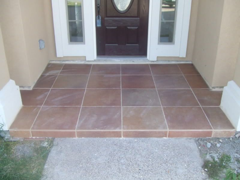 Tiled Front Porch | Tile Design Ideas