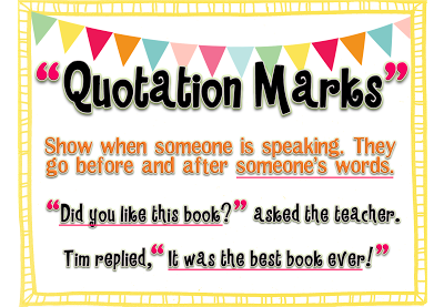 FREE} Anchor Chart & Printable for Quotation Marks ...